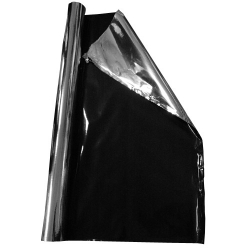 MYLAR BACHÉ Doublé Noir Occultant 110microns Largeur 122.5 CM - Roll 30M