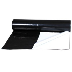 Bâche noire/blanche - vendue au mètre