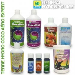 Pack engrais FloraDuo Terre Hydro Coco Aéro Expert 1 litre eau douce