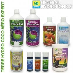 Pack engrais FloraDuo Terre Hydro Coco Aéro Expert 1 litre eau dure