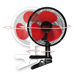Clip Fan Oscillant 23W - noir