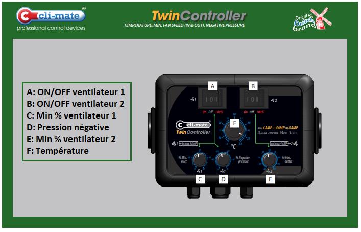 Twin Controller 4+4 Amp Cli-Mate