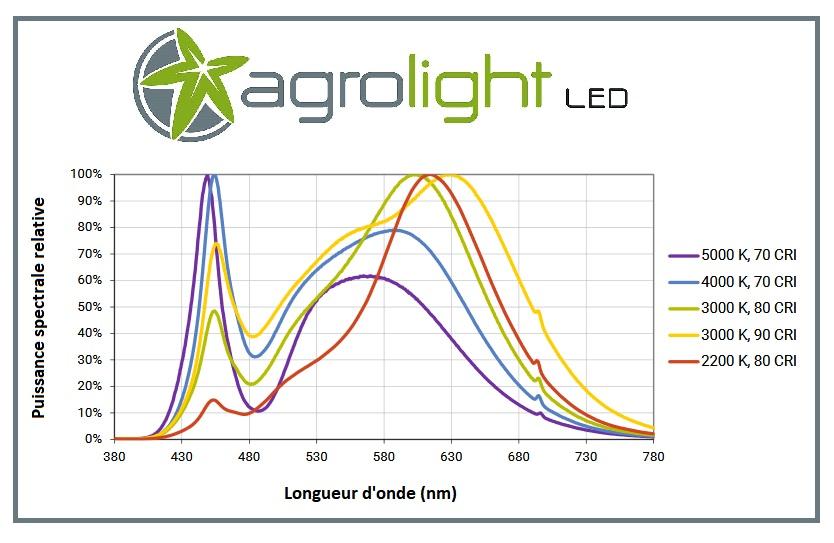 Spectre des COB Cree CXB3070 - Agrolight Led