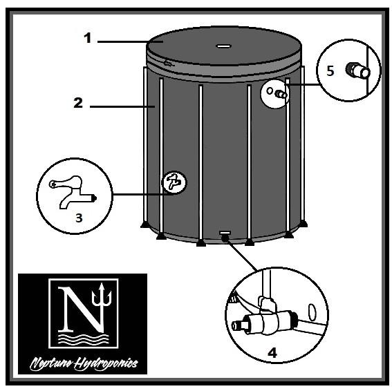 Cuve à eau souple de 100 litres