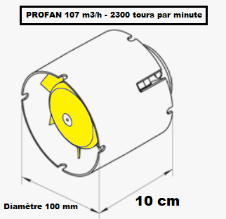 Extracteur de gaine axial Profan de diamètre 100 mm