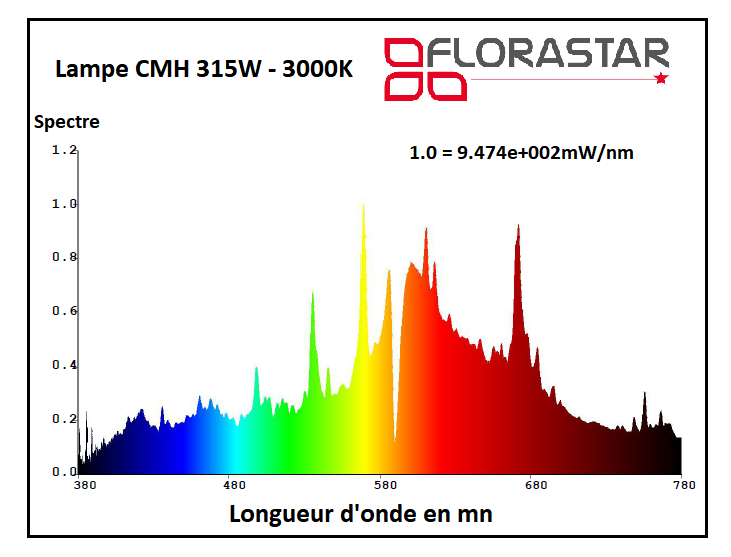 Lampe CMH 315W Florastar pro line 3000K