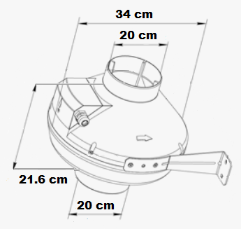 Extracteur centrifuge puissant au débit de 930 m3/h