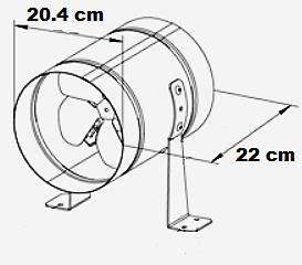 Extracteur basse pression de 405 m3/h