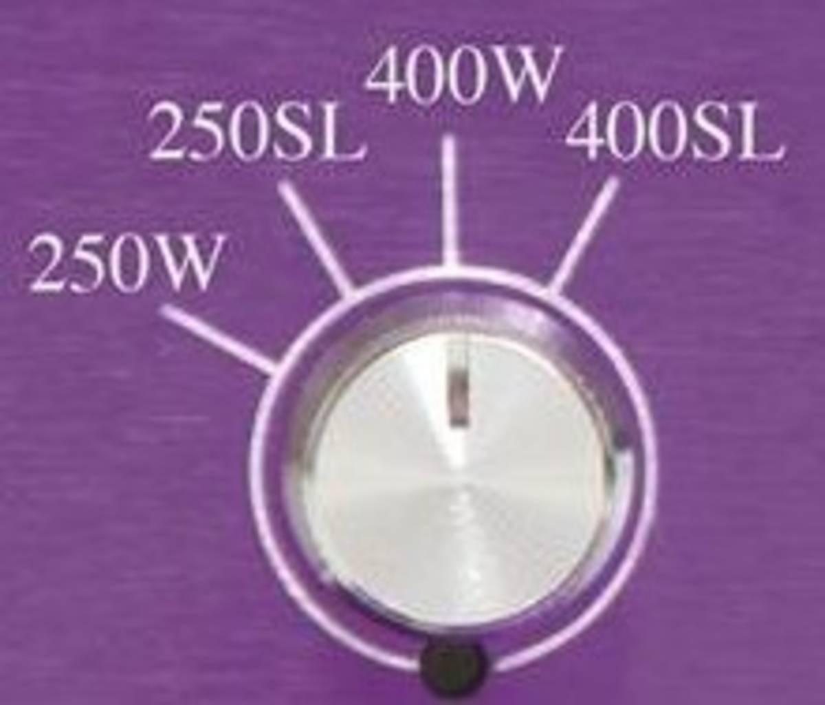 Dimmer 4 positions du ballast électronique lumatek