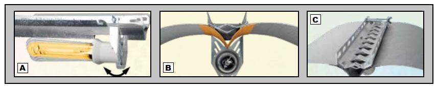 Réflecteur Azerwing V-Pro pour lampe de 250 à 600W