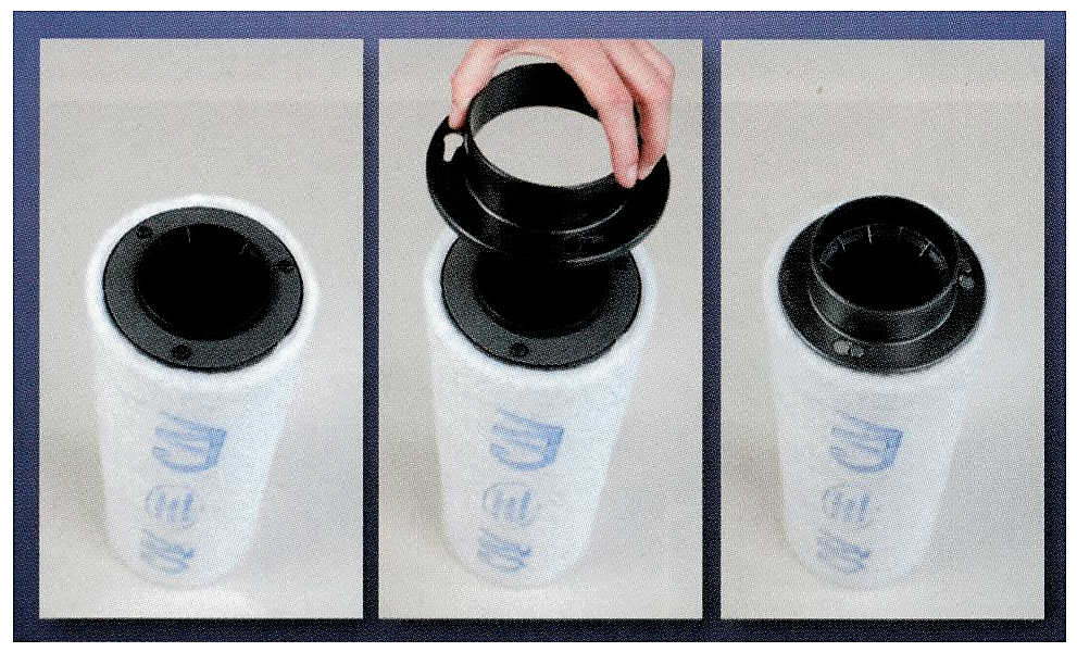 Filtre anti-odeur Can-Lite 425 et sa flande PVC amovible