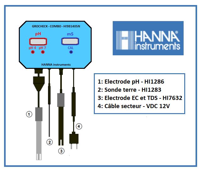 Moniteur pH-Ec et TDS continu Hanna