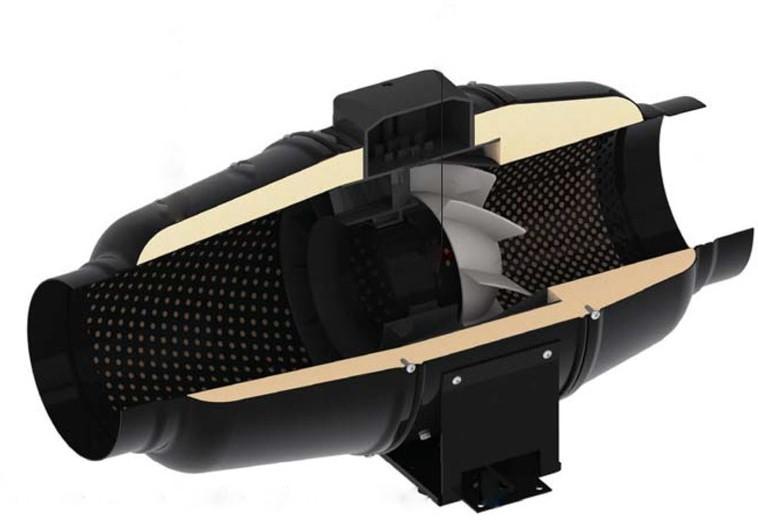 isolation sonore du ventilateur TT Silent-M 125