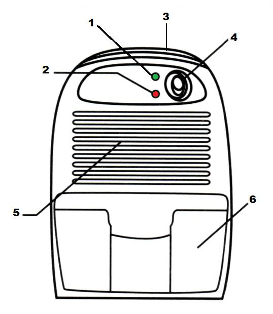 Mini déshumidificateur effet Peltier pour des espaces jusqu'à 15 m2