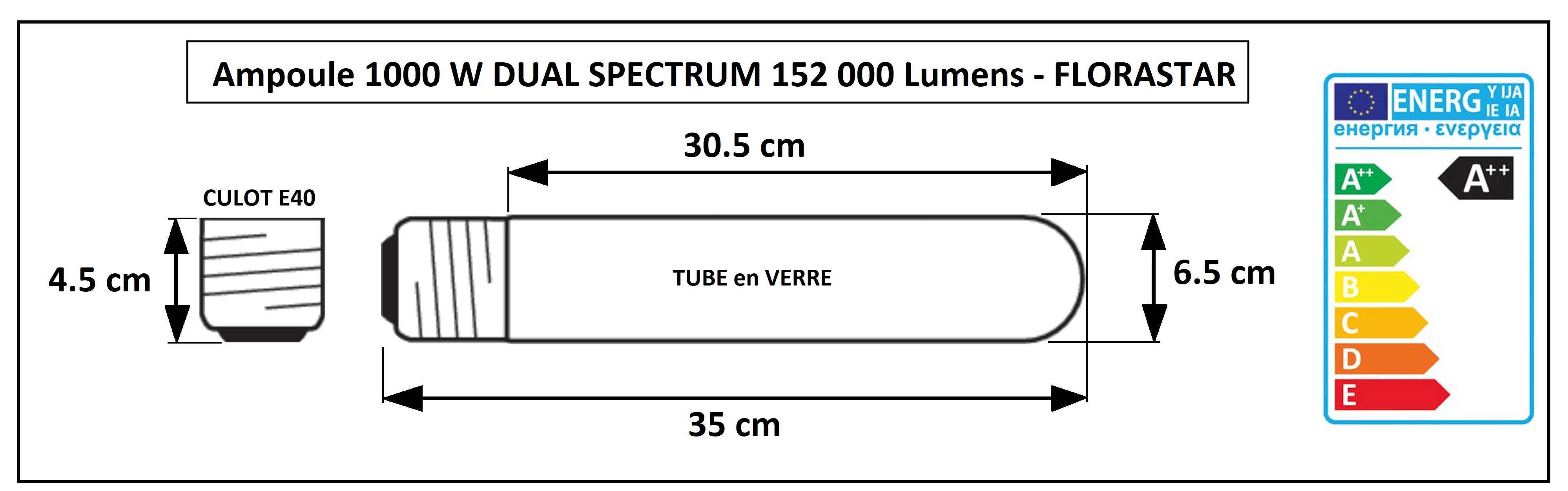 Ampoule HPS 1000 W croissance et floraison Florastar