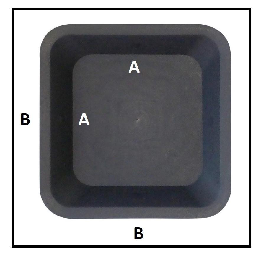 Soucoupe plastique de dimensions 36.5x36.5x3.5 cm
