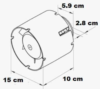 Extracteur soufflant ou aspirant de diamètre 150 mm