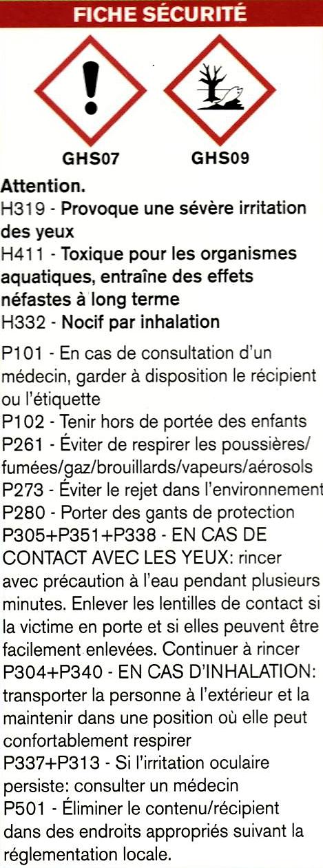 Anti parasites et ravageurs polymère Siltac