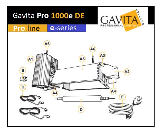 Kit éclairage Gavita 1000W avec lampe DE 400 volt