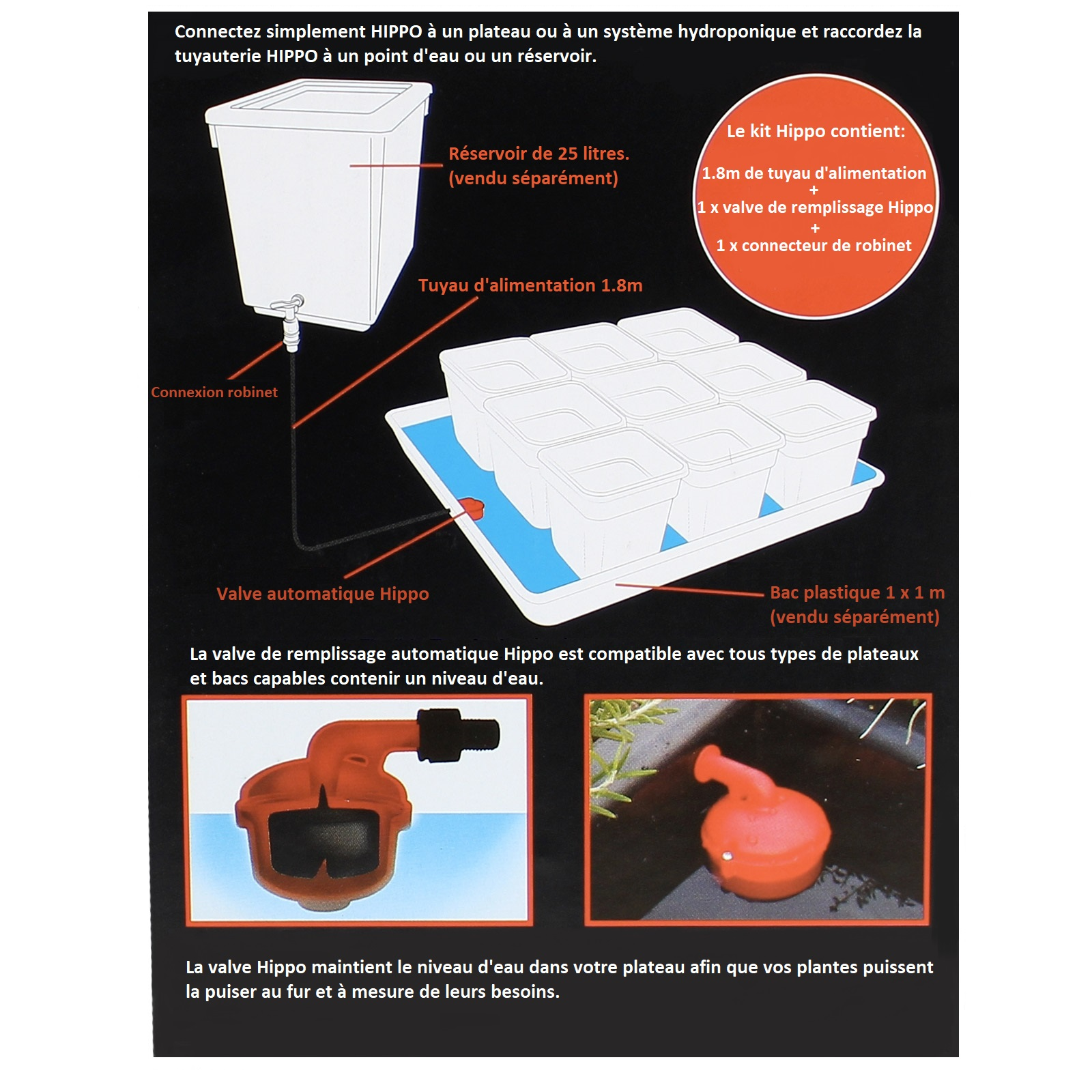 Kit Water top-up valve - valve de remplissage Hippo