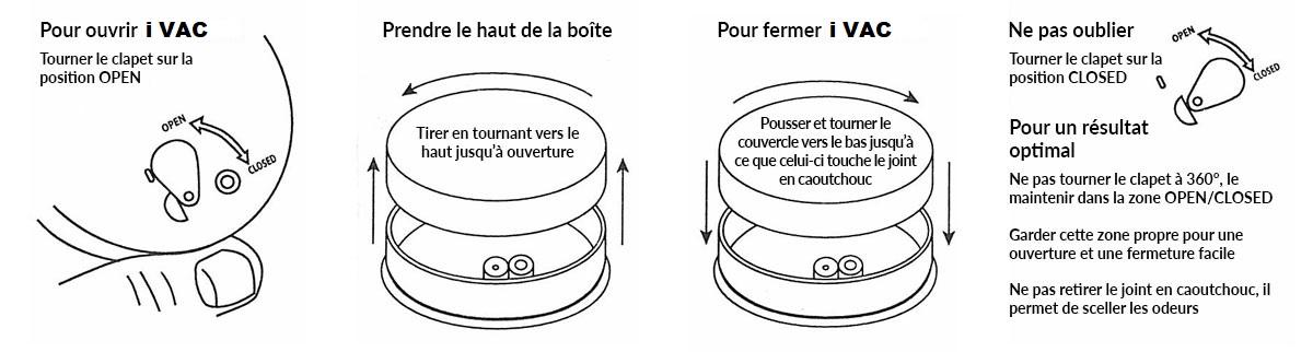Boite hermétique ronde tightvac 0.06 litre