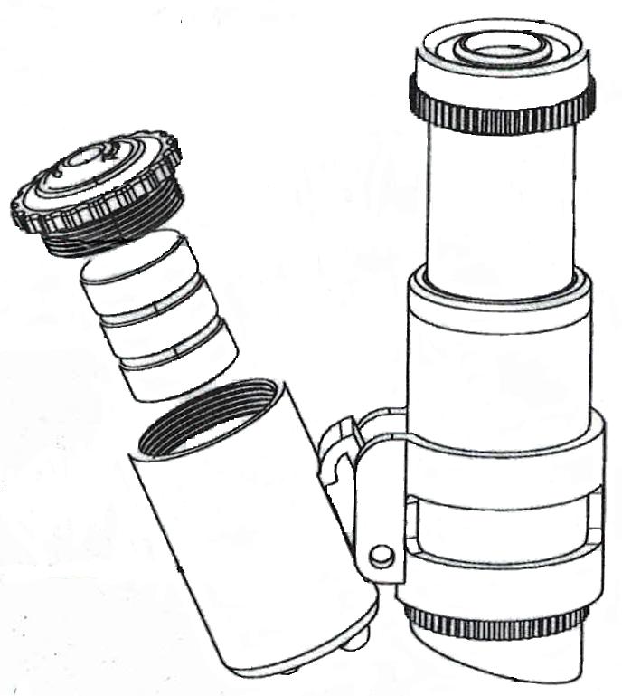 microscope à leds avec zoom x 45