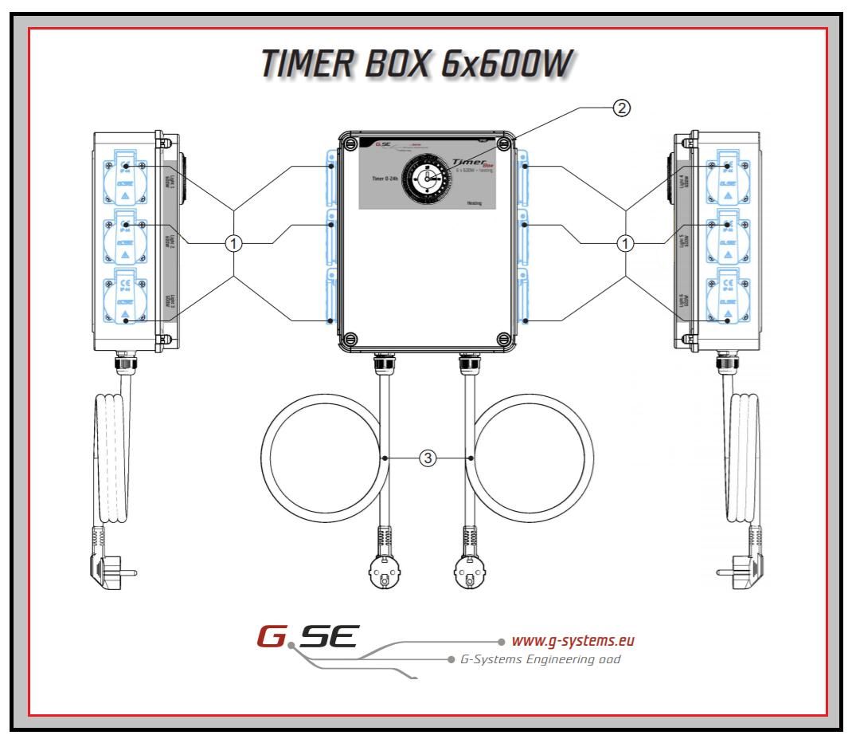 Minuterie d'éclairage G-Systems - pour 6 ampoules max 600W