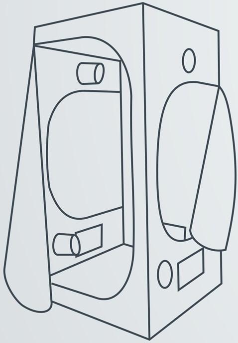 tente de culture probox 80 x 80 x 160 cm