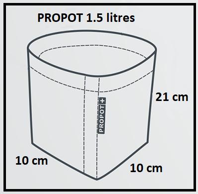 Pot en tissu PROPOT 1.5 litres GARDEN Highpro