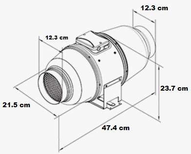 Extracteur silencieux double vitesse avec sorties 125 mm
