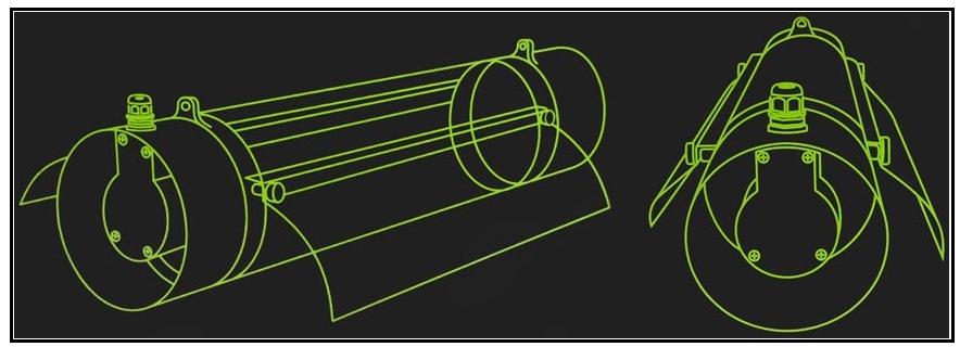 Vur 3D du cooltube avec brides 150 mm Protube