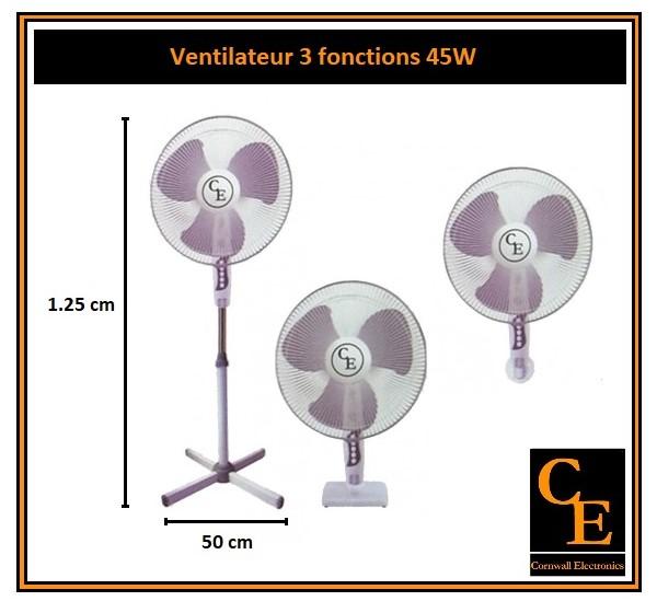 Ventilateur domestique sur pied Cornwall Electronics