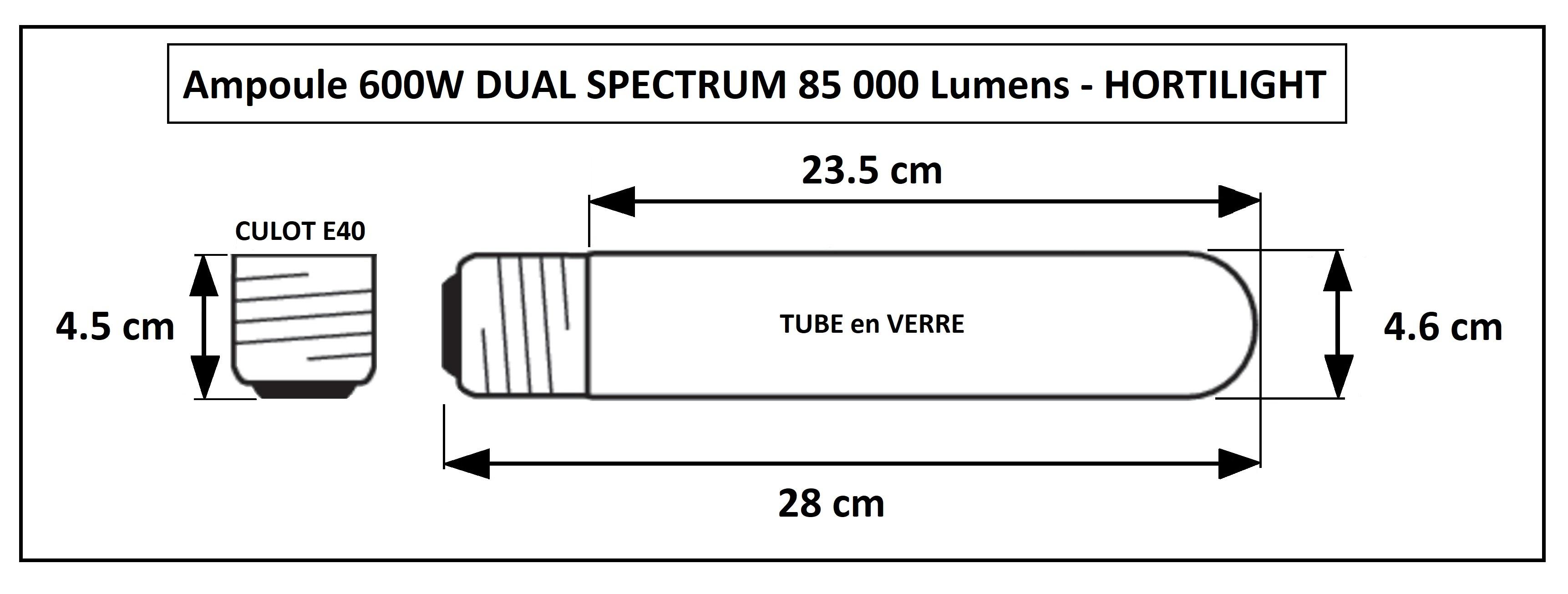 Ampoule de culture 600W Hortilight