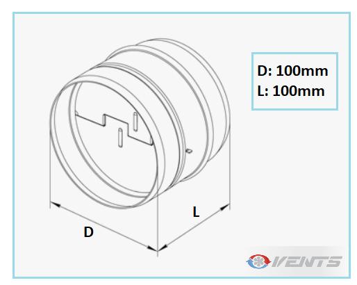 Clapet de ventilation en acier de diamètre 100mm