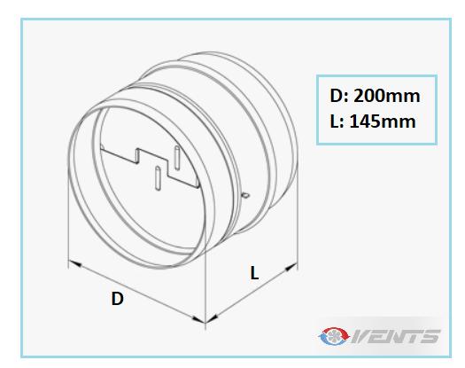 Clapet anti refoulement en métal de diamètre 200mm