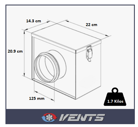 Dimensions du filtre à air Ventilation Systems