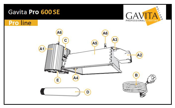 Kit électronique Gavita 600W avec lampe Greenpower