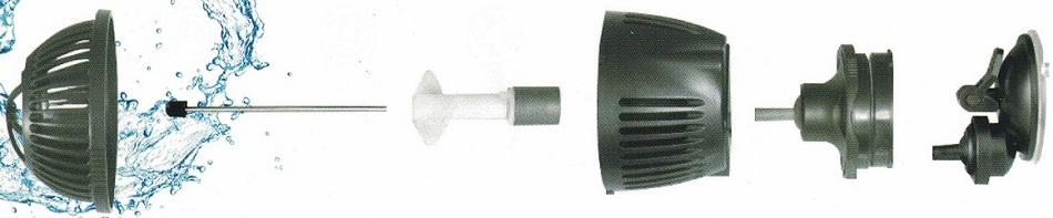 Coupe pompe de brassage 3000L/h Neptune Hydroponics