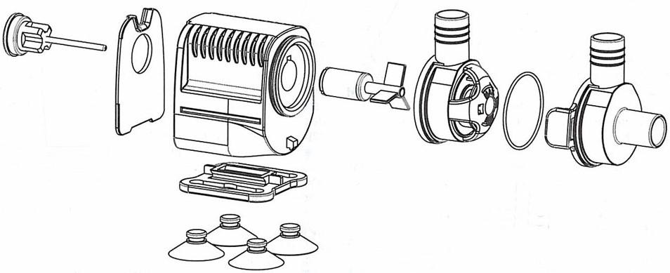 Schéma de la pompe MaxiJet micro 140-240 litres/heure